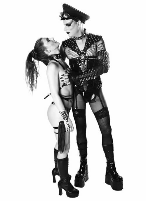 AiB guests - couple in leather with spikes